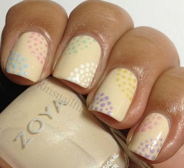 decoracion de uñas con color nude