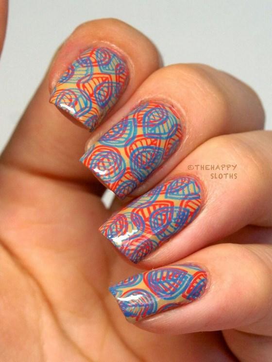 diseño de uñas de colores estampadas