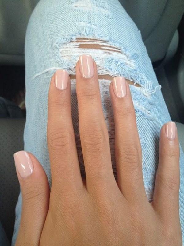 diseños de uñas naturales color nude