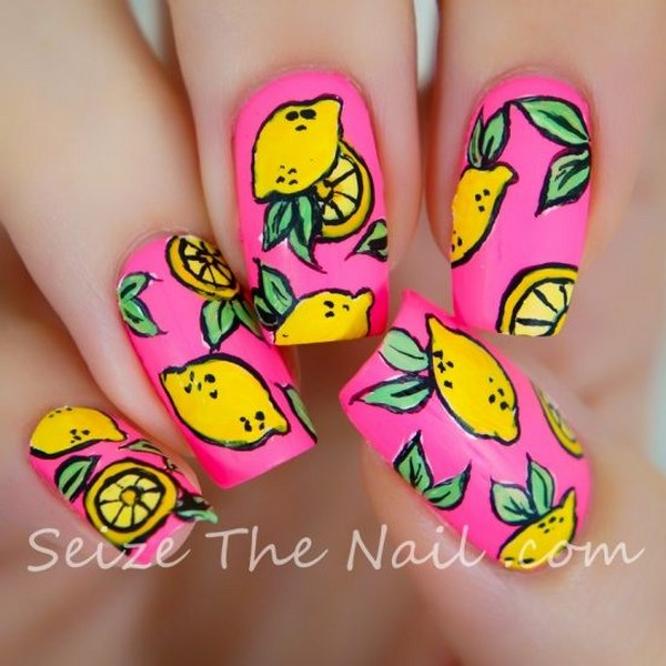 diseño de limon para uñas