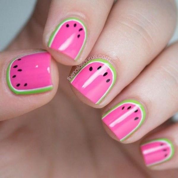 uñas de frutas