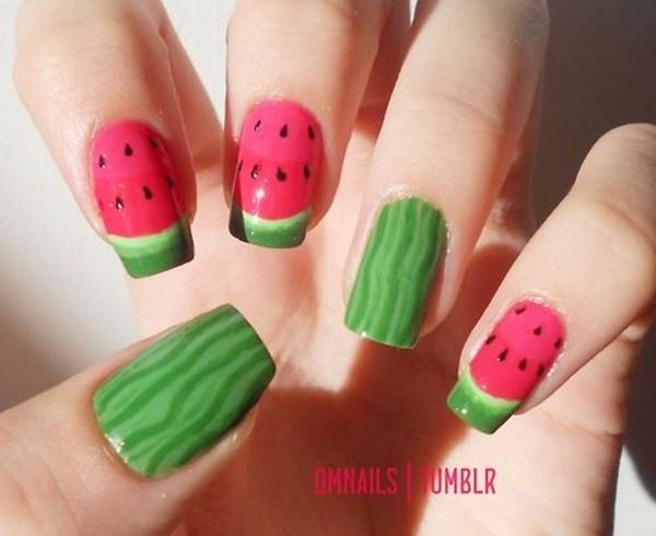 uñas frutas