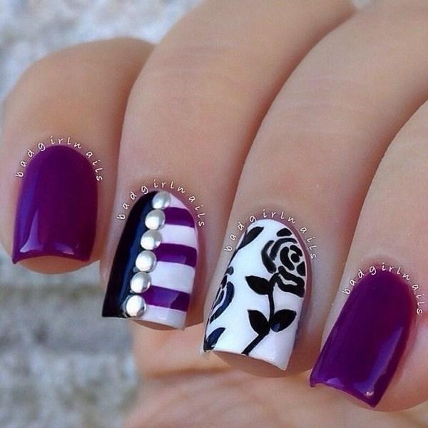 dibujos de flores para uñas acrilicas