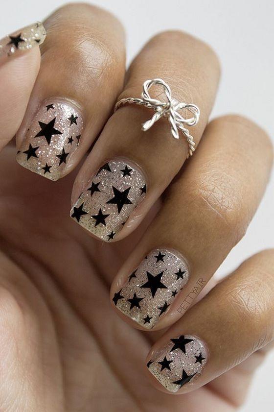 uñas de estrella