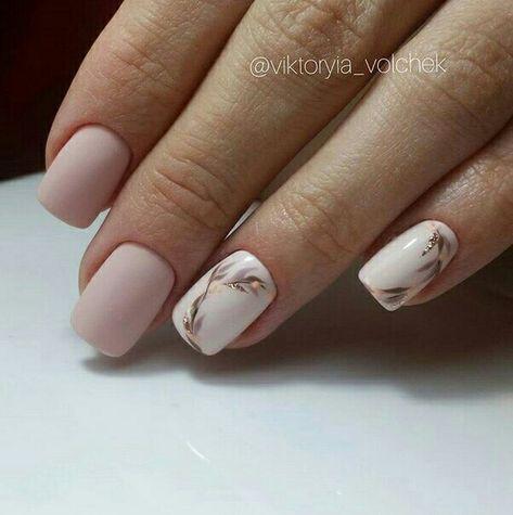 Uñas Mate Color Blanco (3)