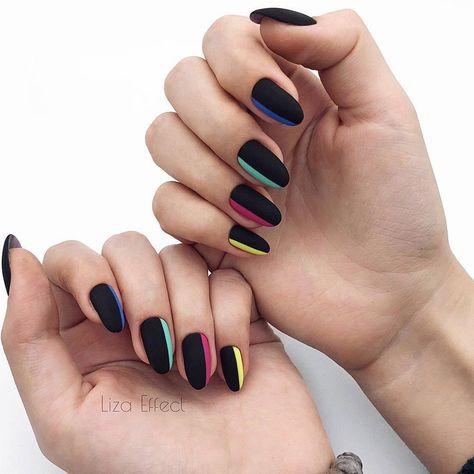Uñas Mate Color Negro (4)
