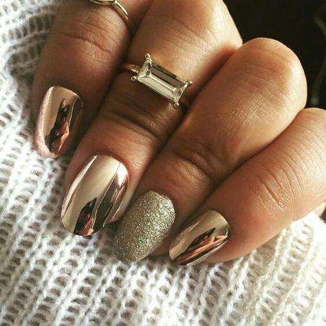 Uñas Metalizadas Doradas (3)