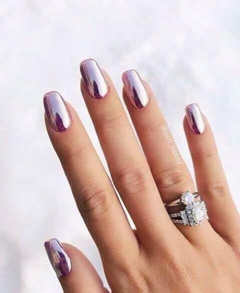 Uñas Metalizadas En Rosa (3)