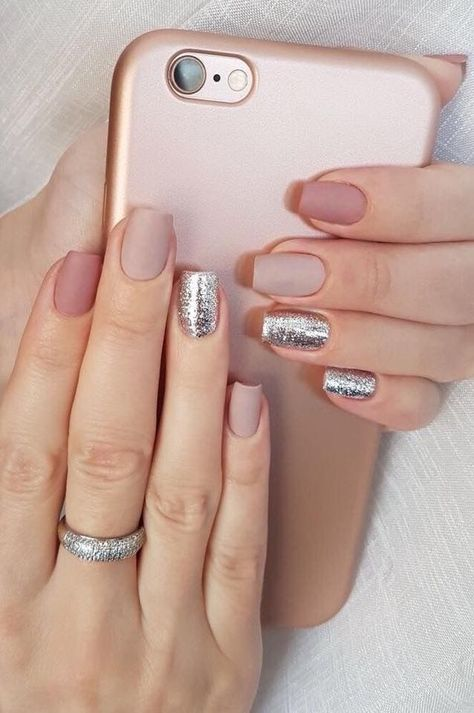 Uñas Metalizadas Plata (5)